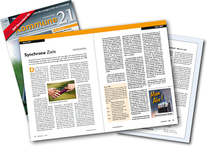 Beispiel eines Sonderdrucks in der Fachzeitschrift Kommune21